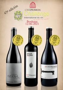 Casa Primicia Challenge Internanional du vin 2021 gold medals