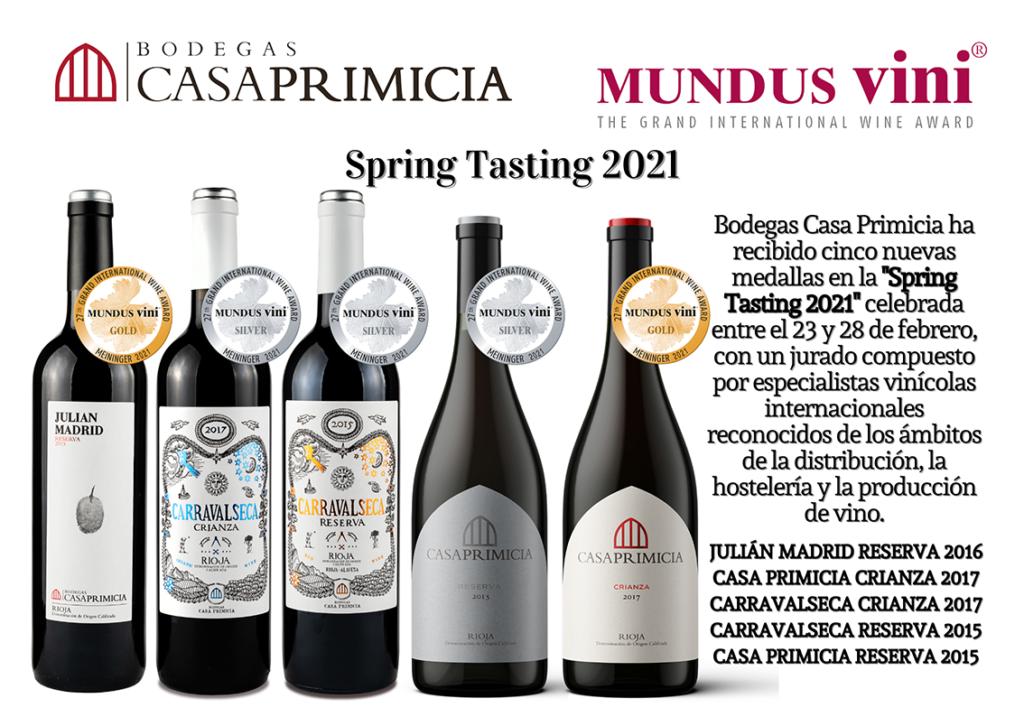 Mundus vini spring tasting 2021 Casa Primicia